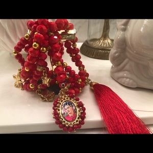 MEXICANA Jewelry - Red stretch semanario 7 pzs
